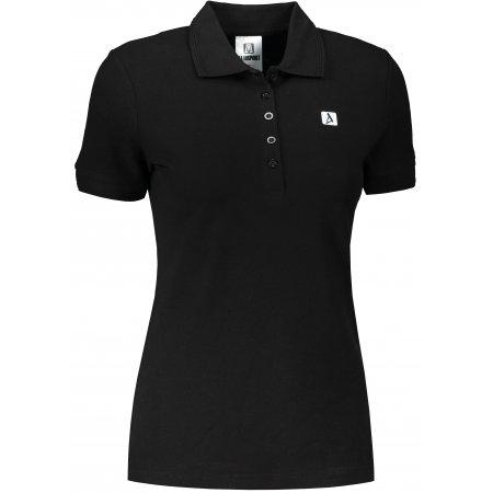Dámské triko s límečkem ALTISPORT ALW065210 ČERNOBÍLÁ