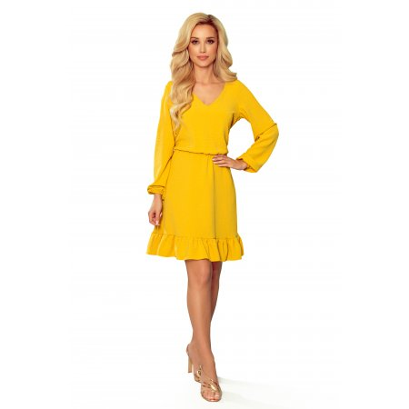 Dámské šaty NUMOCO 295-6 MEDOVÁ