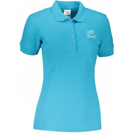 Dámské triko s límečkem ALTISPORT ALW056210 TYRKYSOVÁ