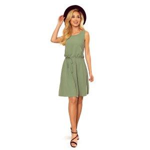 Dámské šaty NUMOCO 296-6 OLIVOVÁ