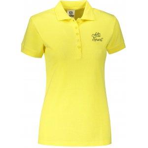 Dámské triko s límečkem ALTISPORT ALW056210 CITRÓNOVÁ