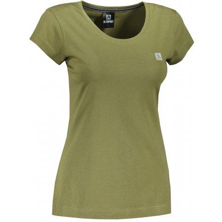 Dámské premium triko ALTISPORT ALW065154 AVOCADO GREEN/BLACK