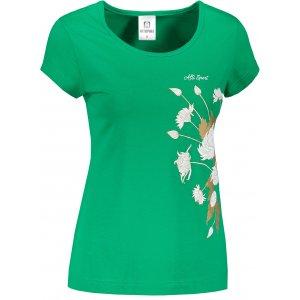 Dámské triko ALTISPORT ALW105122 STŘEDNĚ ZELENÁ