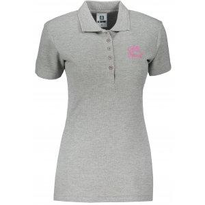 Dámské triko s límečkem ALTISPORT ALW056210 TMAVĚ ŠEDÝ MELÍR