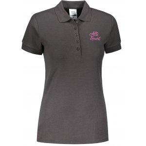 Dámské triko s límečkem ALTISPORT ALW056210 EBONY GREY