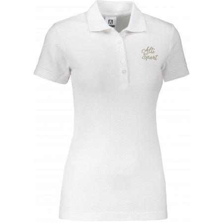 Dámské triko s límečkem ALTISPORT ALW056210 BÍLOZLATÁ