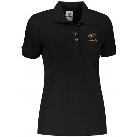 Dámské triko s límečkem ALTISPORT ALW056210 ČERNOZLATÁ