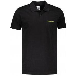 Pánské triko s límečkem ALTISPORT ALM110202 ČERNOZELENÁ
