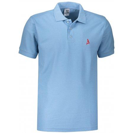 Pánské premium triko s límečkem ALTISPORT ALM002203 NEBESKY MODRÁ