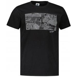 Pánské triko ALTISPORT ALM120129 ČERNOSTŘÍBRNÁ