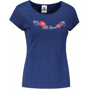 Dámské triko ALTISPORT ALW116122 PŮLNOČNÍ MODRÁ