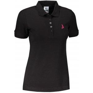 Dámské premium triko s límečkem ALTISPORT ALW002210 ČERNORŮŽOVÁ