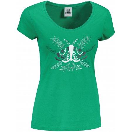 Dámské triko ALTISPORT ALW124162 STŘEDNĚ ZELENÁ