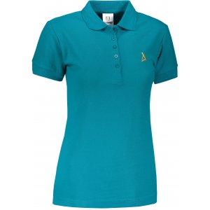 Dámské premium triko s límečkem ALTISPORT ALW002210 TMAVÝ TYRKYS
