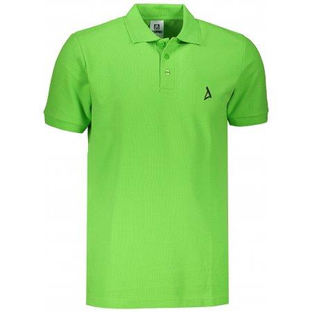 Pánské premium triko s límečkem ALTISPORT ALM002203 APPLE GREEN