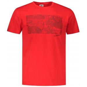 Pánské triko ALTISPORT ALM120129 ČERVENÁ