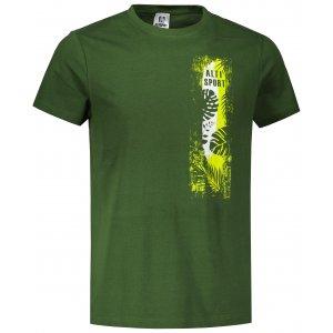 Pánské triko ALTISPORT ALM118129 LAHVOVĚ ZELENÁ