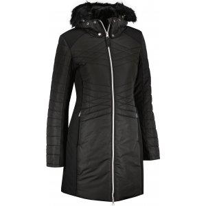 Dámský dlouhý kabát ALPINE PRO FAVTA LCTU160 ČERNÁ
