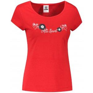 Dámské triko ALTISPORT ALW116122 ČERVENÁ