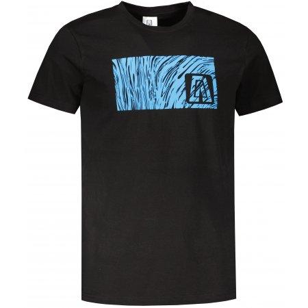 Pánské triko ALTISPORT ALM126129 ČERNOMODRÁ