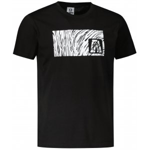 Pánské triko ALTISPORT ALM126129 ČERNOBÍLÁ