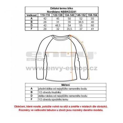 Termoprádlo dětské NORDBLANC zip NBBKD2241 110-140 BÍLÁ