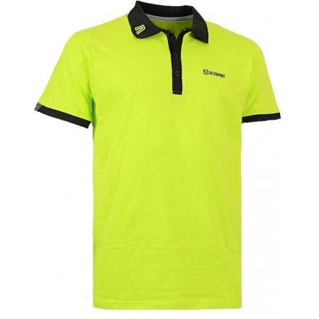 Pánské triko s límečkem ALTISPORT SORSAK ALMW15069 SVĚTLE ZELENÁ