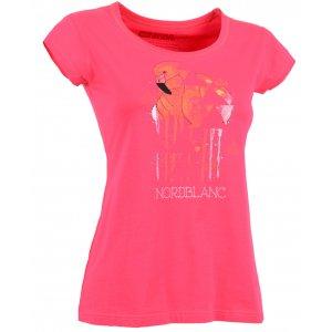 Dámské tričko NORDBLANC FLAMINGO NBSLT5108 SVĚTLÁ RŮŽOVÁ