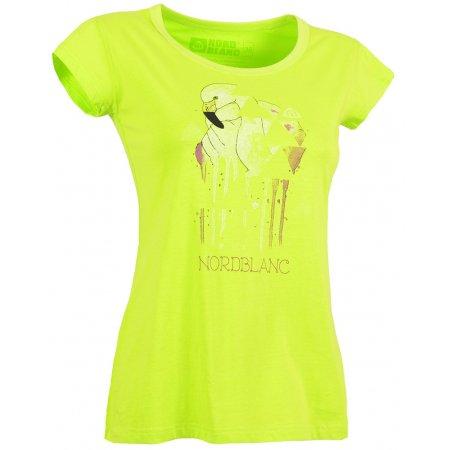 Dámské tričko NORDBLANC FLAMINGO NBSLT5108 JASNĚ ZELENÁ
