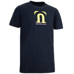 Dětské triko NORDBLANC GALE NBFKT3403S ČERNÁ 110-140