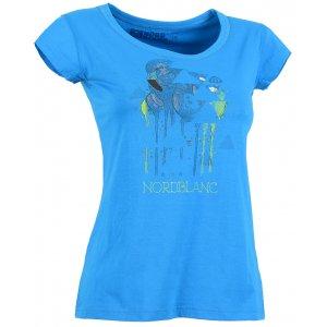 Dámské tričko NORDBLANC FLAMINGO NBSLT5108 AZUROVÁ MODRÁ